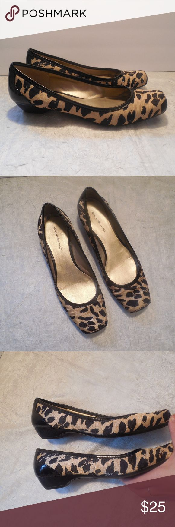 Bandolino Ballet Flats Shoes Square Toe Leopard Bandolino satin animal print ballet flats in size 7.5. Bandolino Shoes Flats & Loafers