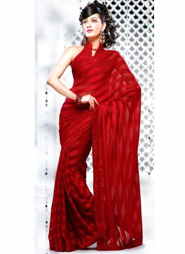 Cbazaar-Red Saree