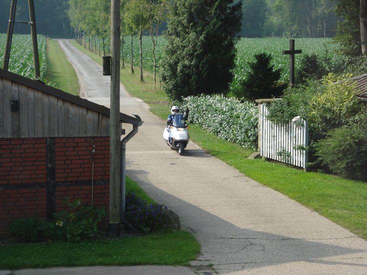 Duitse broodjes gehaald op mijn Honda Helix tijdens vakantie.