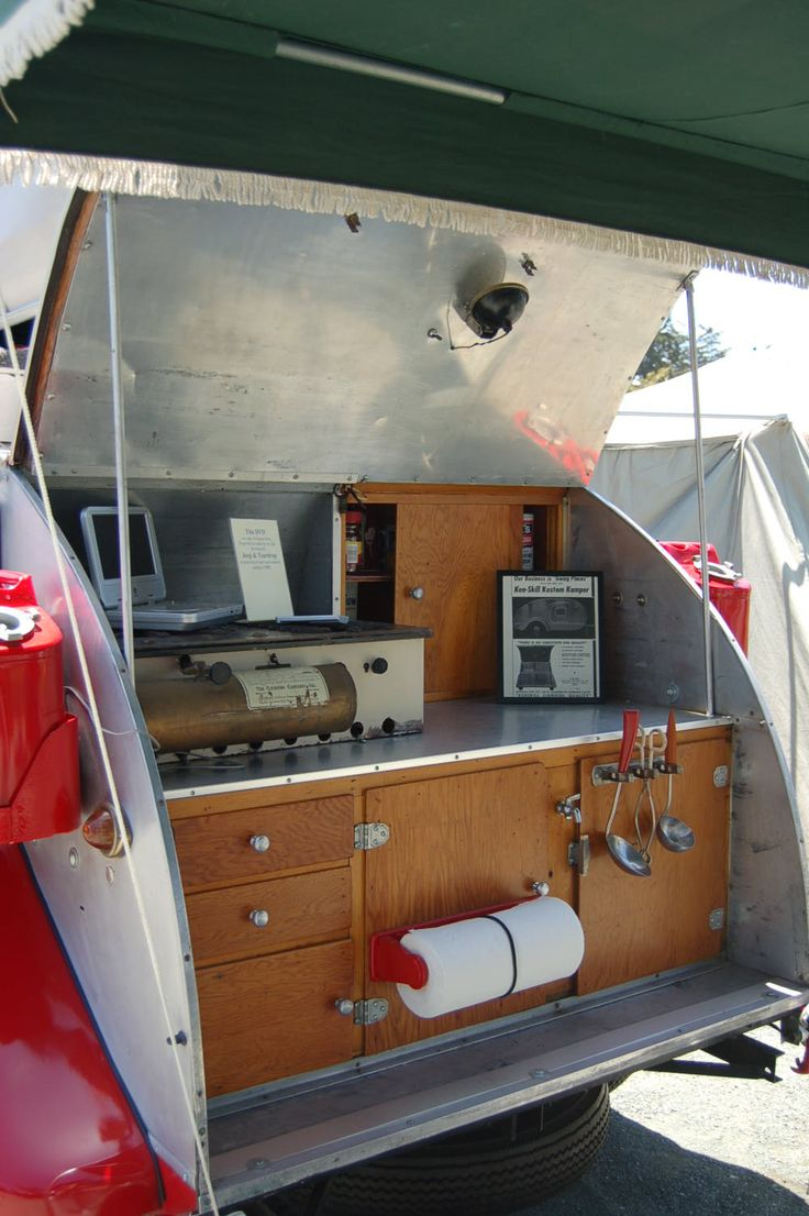 Posted in retro vintage tagged classic cars teardrop caravan vintage - A Few Months Ago I Was Showing My Teardrop For The First Time To My Friend Pedro He Had No Idea The Trailer Had A Kitchen In The Back And