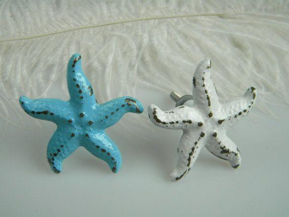 Nautical Drawer pull Starfish Sea Creature / by MorrellDecor