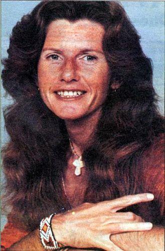 Scary hairy Manson killer Patricia Krenwinkel in prison, sometime in the 1970s.
