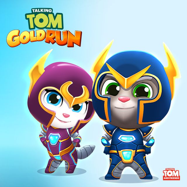 """Have you seen my super cute new outfit in the latest """"Talking Tom Gold Run"""" app update?! Talking Tom's is pretty cool, too… But mine's the best! xo, Talking Angela #TalkingAngela #MyTalkingAngela #TalkingTom #TalkingTomGoldRun #TomGoldRun #app #update #outfit"""