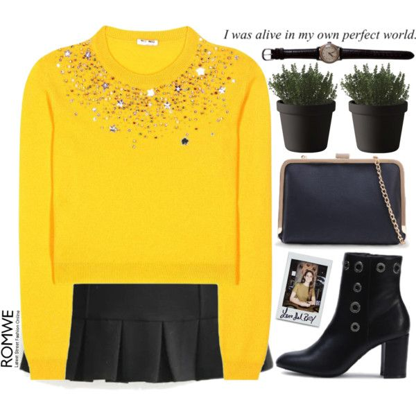 Yellow top Outfit Idea 2017