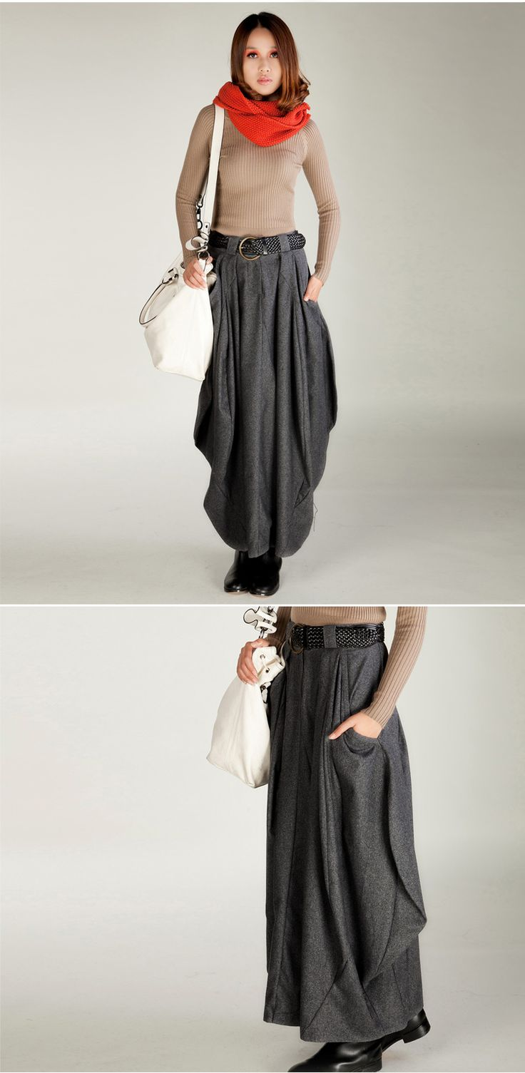 S0076 Custom made Plus size 2014 New women's autumn and winter warm Customized wool Bud long skirt original design -inSkirts from Apparel & Accessories on Aliexpress.com | Alibaba Group