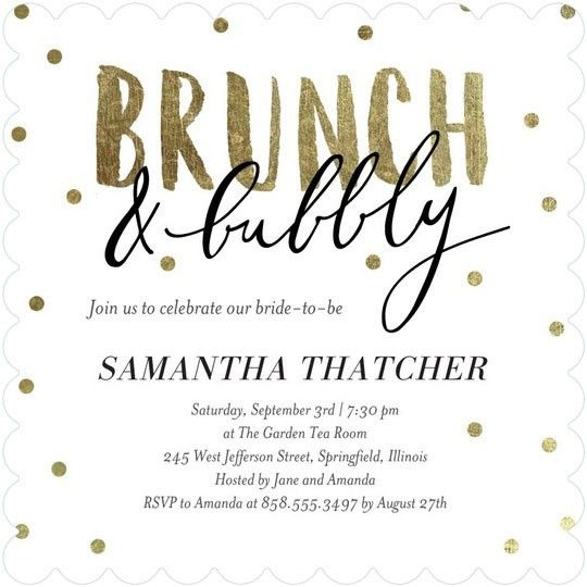 The advantages of a brunch shower include an easy menu to execute and the party being over in time for date night!   See more bridal shower invites here: http://www.mywedding.com/articles/cute-bridal-shower-invitations-from-wedding-paper-divas/?utm_source=pinterest&utm_medium=social&utm_campaign=decor_details