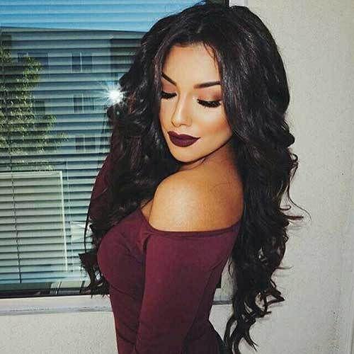 15 Stylish Long Hairstyles: #1. Long Dark Hairstyle