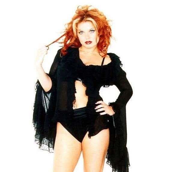 Geri Halliwell / Ginger Spice in a SpiceWorld promotional image.