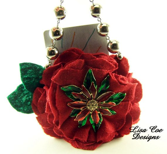 Hanging Christmas Gift Card Holder Christmas by LisaCoeDesigns