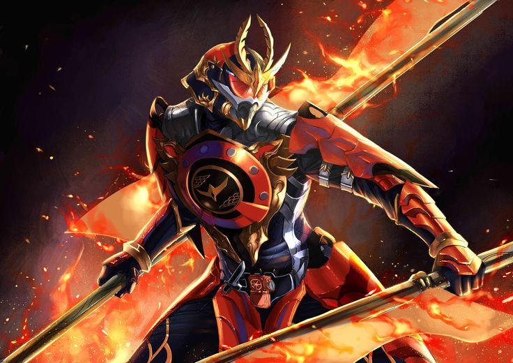 Kamen Rider Gaim-Kachidoki Arms, Annastasia Zefanya on ArtStation at https://www.artstation.com/artwork/81y16