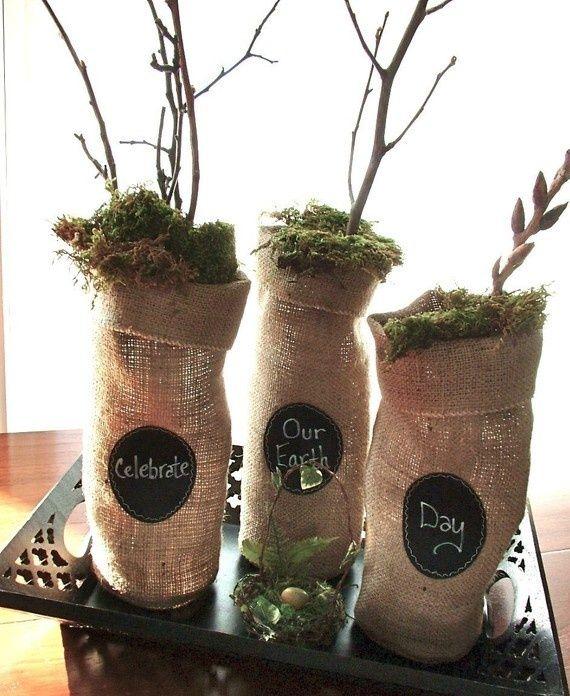 burlap wine totes | Burlap wine bottle bags with message labels | Project list