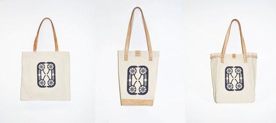 100% cotton with vegetable tanned leather. Screen print. Made by hands from Silesia.