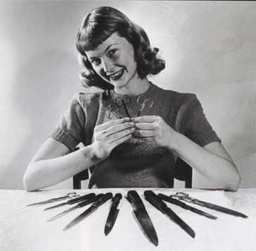 vintagehair: Vintage pictures of short bangs from the 1950s