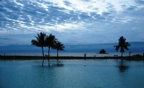 Pool and South China Sea, Empire Hotel, Brunei