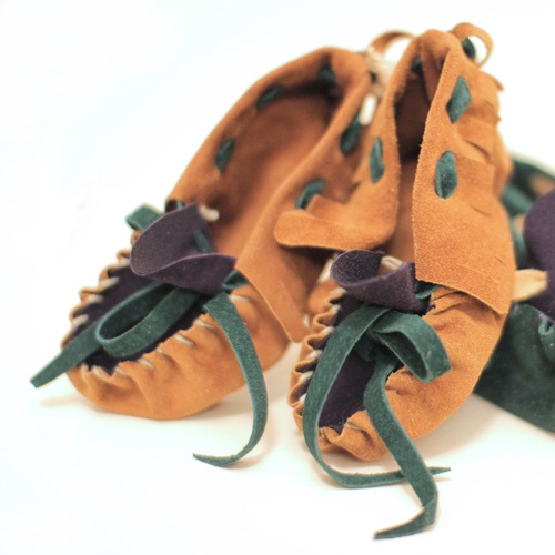 Locally made Baby Moccasins. Aw by Andrea Wong.