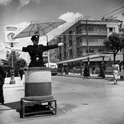 trafik polisi - Yenişehir (Kızılay) meydanı, otobüs durağının arkasında Soysal Apt.  50ler