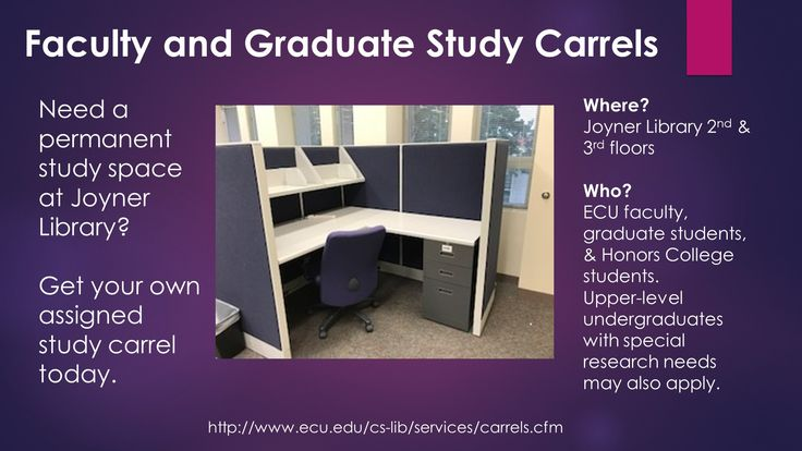 Joyner library faculty and graduate study carrels are the perfect place to get your work done!  #JoynerLibary #ECU
