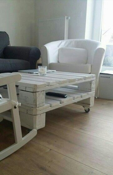 Pallet conference table WHITE