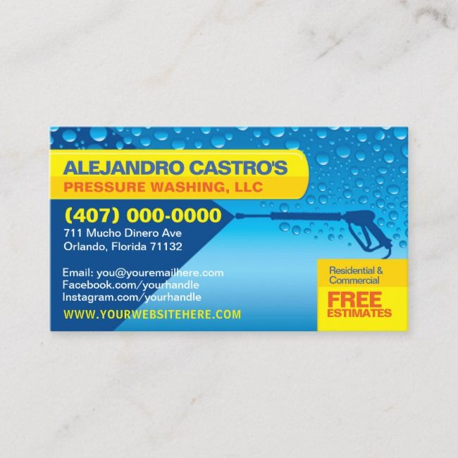 Pressure Washing Cleaning Business Card Template Zazzle Com