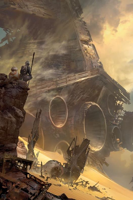 Star Wars: Episode VII - The Force Awakens concept art by Stephan Martiniere *