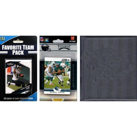C Collectables NFL Philadelphia Eagles Licensed 2012 Score Team Set and Favorite Player Trading Card Pack Plus Storage Album