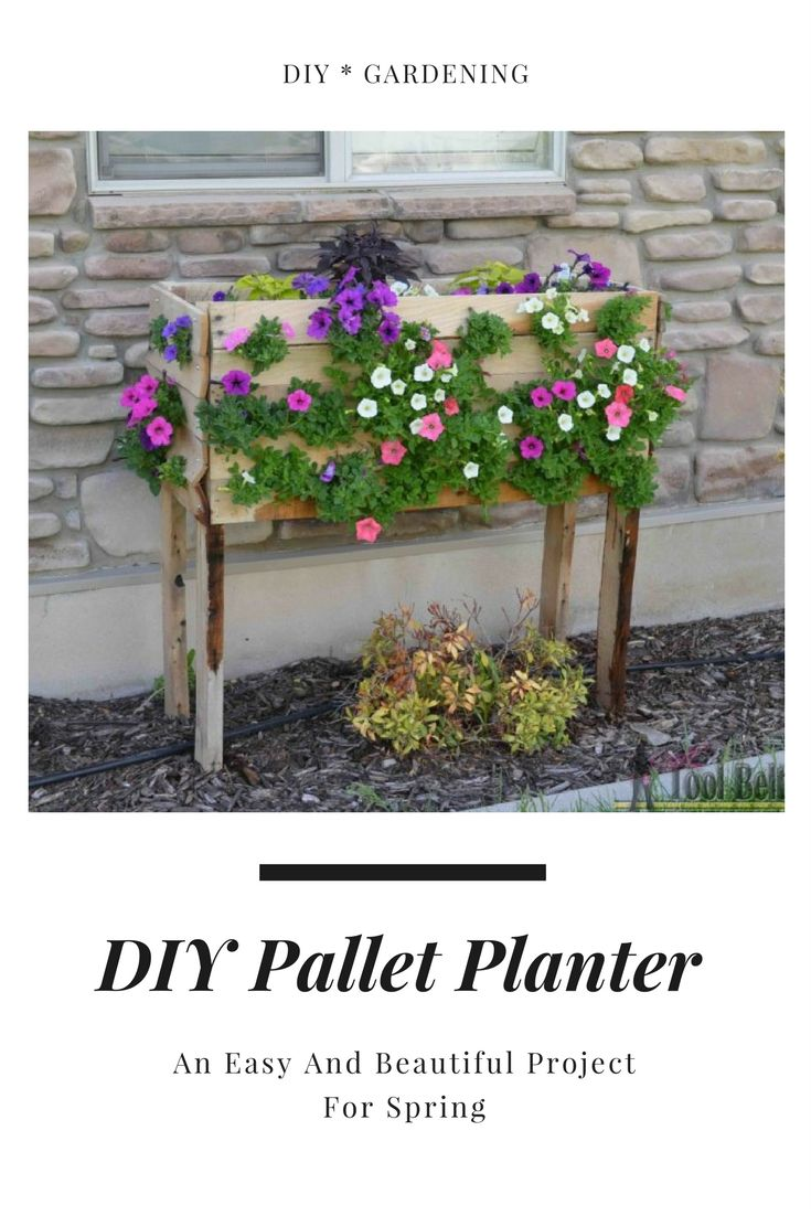 DIY Pallet Planter Is An Easy And Beautiful Project For Spring