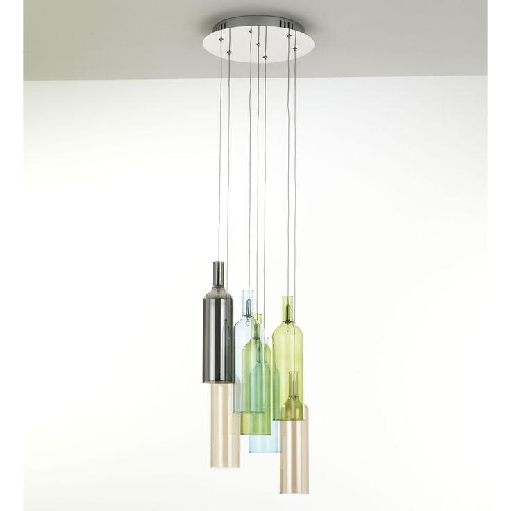 Italian contemporary design chandelier Bottle by Tomasucci, lighting f at My Italian Living Ltd