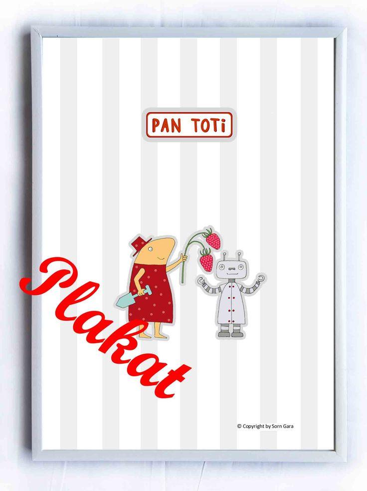 """Plakat Układanka """"Kolekcja Pan Toti"""" Kolorowanki, poduszki, przytulanki, układanki  https://www.facebook.com/kolekcjaPanToti/?fref=photo"""