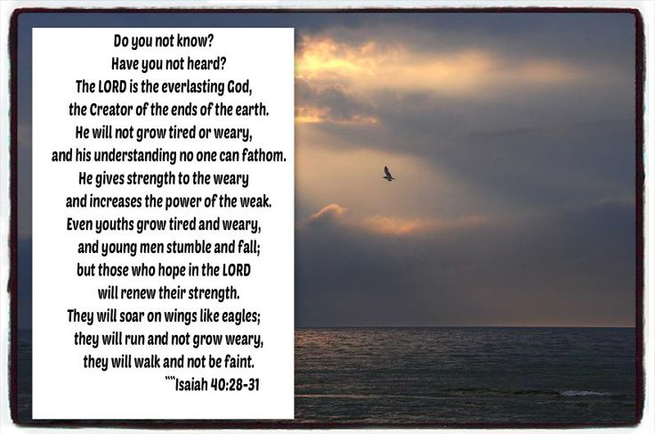 Isiah 40 28 to 31