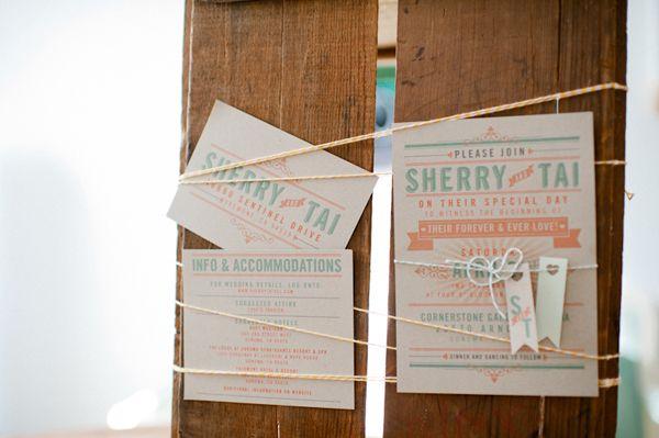 Vintage Carnival Wedding stationary