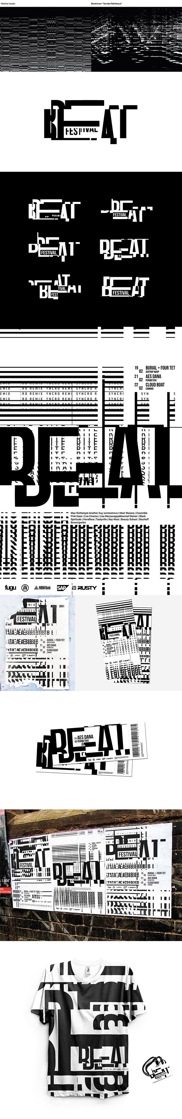 Beat Festival   Brand identity on Behance