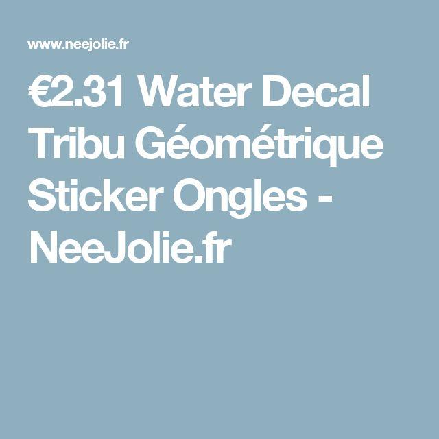 €2.31 Water Decal Tribu Géométrique Sticker Ongles - NeeJolie.fr