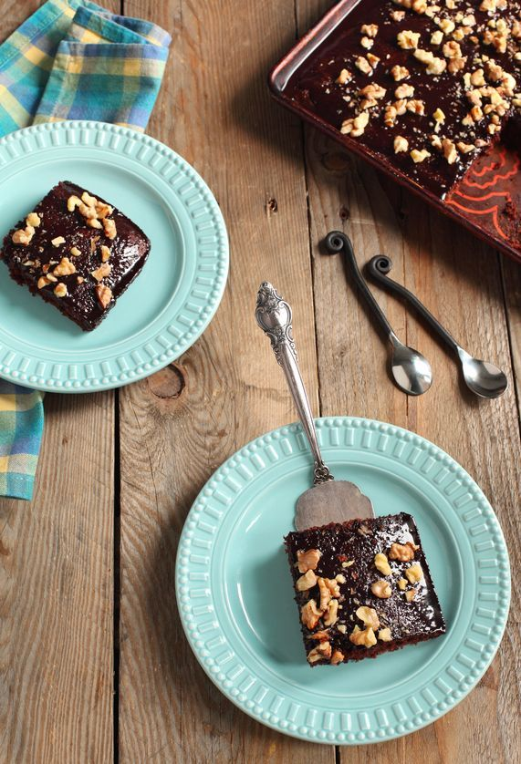 Delicious Texas Sheet Cake Recipe uses einkorn flour which makes it much easier for those with food sensitivities to be able to bake a cake and eat it too!
