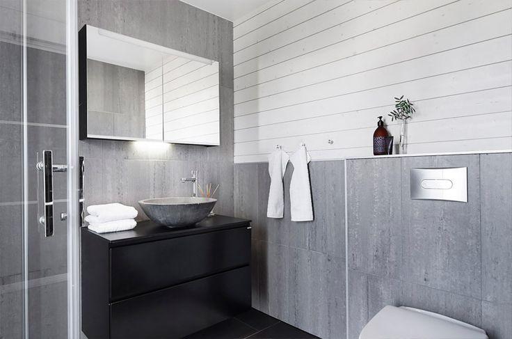 Kivenharmaa tyyli #kylpyhuone #kivi #netrautalikes