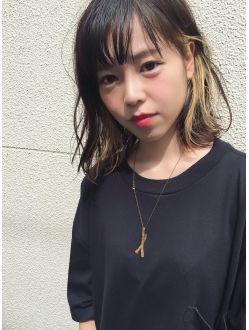 ヘアーデザイン アルエ(HAIR×design ARUE)インナーカラー ロブ