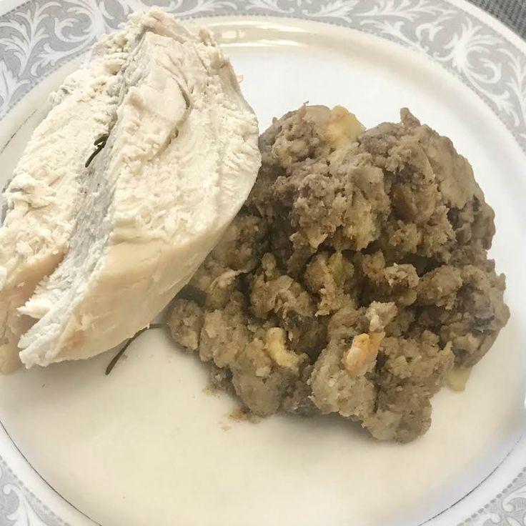 Nor's Sausage Apple Turkey Stuffing #stuffing #turkey stuffing #turkey dressing #Thanksgiving Stuffing #Sausafe stuffing #Apple sausage stuffing #justapinchrecipes