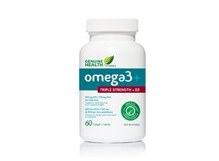 Genuine Health O3mega Triple Strength +D3: Just one capsule of o3mega triple strength + D3 contains the EPA/DHA dosage recommended by the American Heart Association for added cardiovascular support and has the added benefit of 1,000 IU of Vitamin D3 in each softgel. A recent study in the American Journal of Cardiology* shows that vitamin D deficiency is highly associated with all major cardiovascular diseases. Vitamin D deficiency increased the risk of mortality by 260%.
