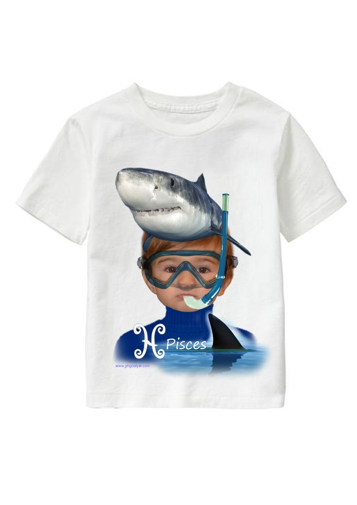 Pisces Boy personalized T-shirt www.ghigostyle.com