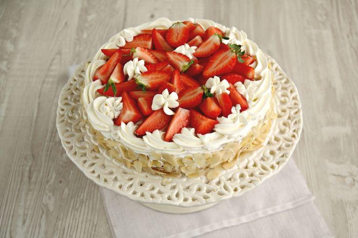 Gâteau aux amandes et crème diplomate