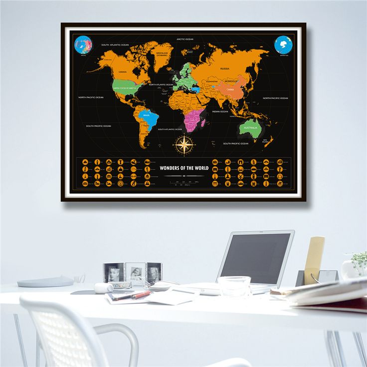 Scratch Off Map Of The World Poster
