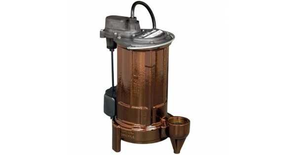 3/4 HP Automatic Sump / Effluent Pump w/ Vertical Float Switch, 208V ~ 240V, 10' cord