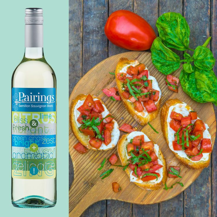 PALATE PAIRINGS Bruschetta - perfect for breakfast, lunch, or dinner! It's Saturday, definitely pair it with our Pairings SSB! ☀️