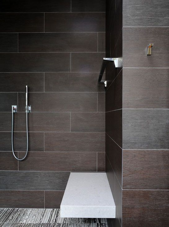 Wall Anchored Floating Shower Seat Wall Tile Is 39 Ambra Gris 39 From The Hand Carved Collection By