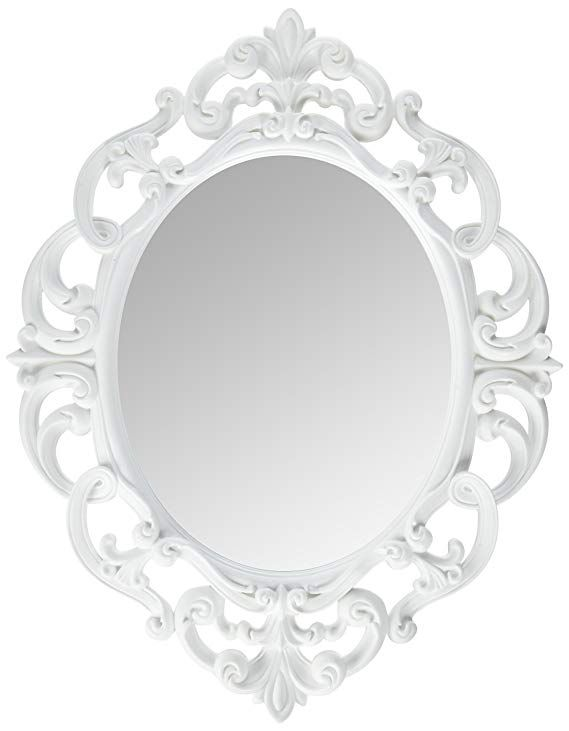 Kole White Oval Vintage Wall Mirror Vintage Mirror Wall Antique Mirror Wall Oval Wall Mirror