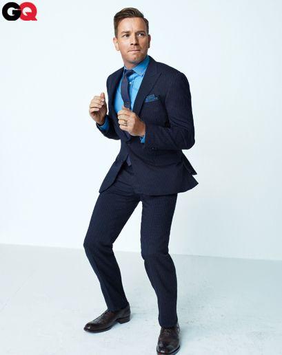 Ewan McGregor suits up for GQ.