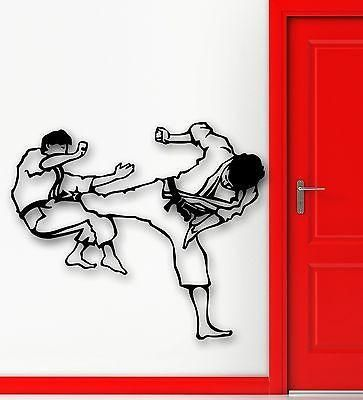 Wall Stickers Vinyl Decal Karate Martial Arts Sports Fight Unique Gift (ig617)