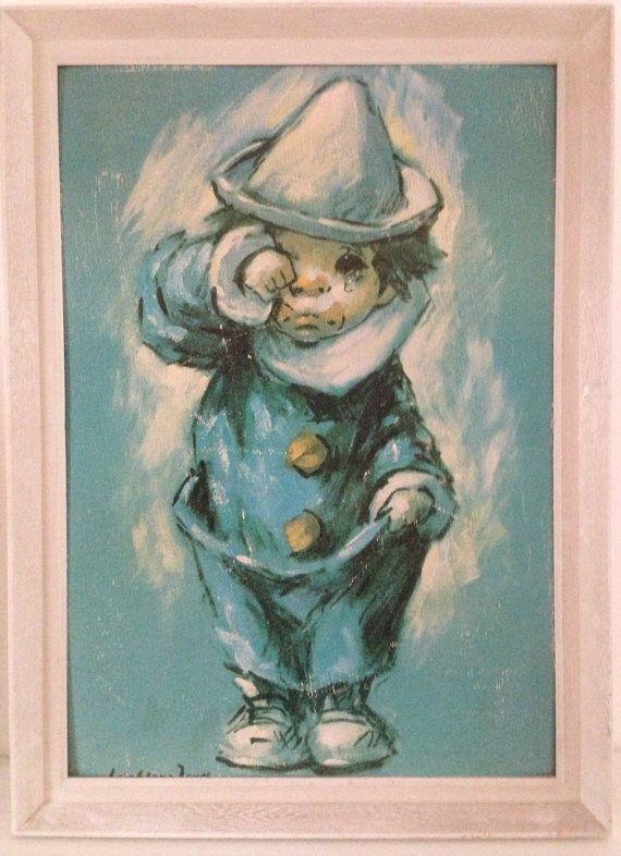 Big Eye crying clown vintage print Leighton by ApartmentNo21, £8.00