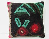 floor pillow sham 18x18 turkish fabric kilim pillow rustic decorative pillow earthy throw pillow unusual home decor throw pillow couch 25271