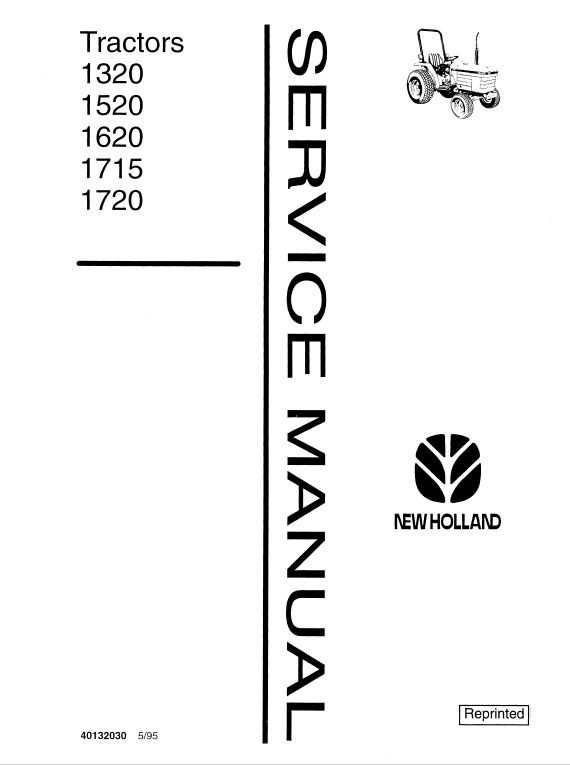 Ford 1320, 1520, 1620, 1715, 1720 Tractor Service Manual
