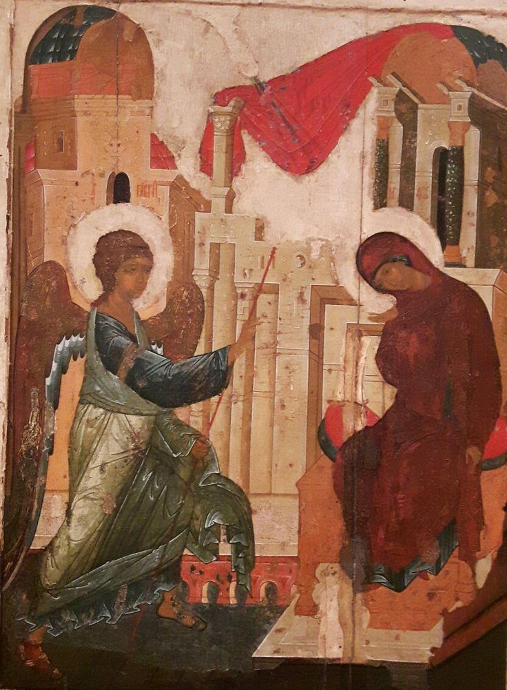 Danilii e Andrej Rublióv.  Icona del registro delle dodici feste.  1408. Galleria Tretyakov di Mosca